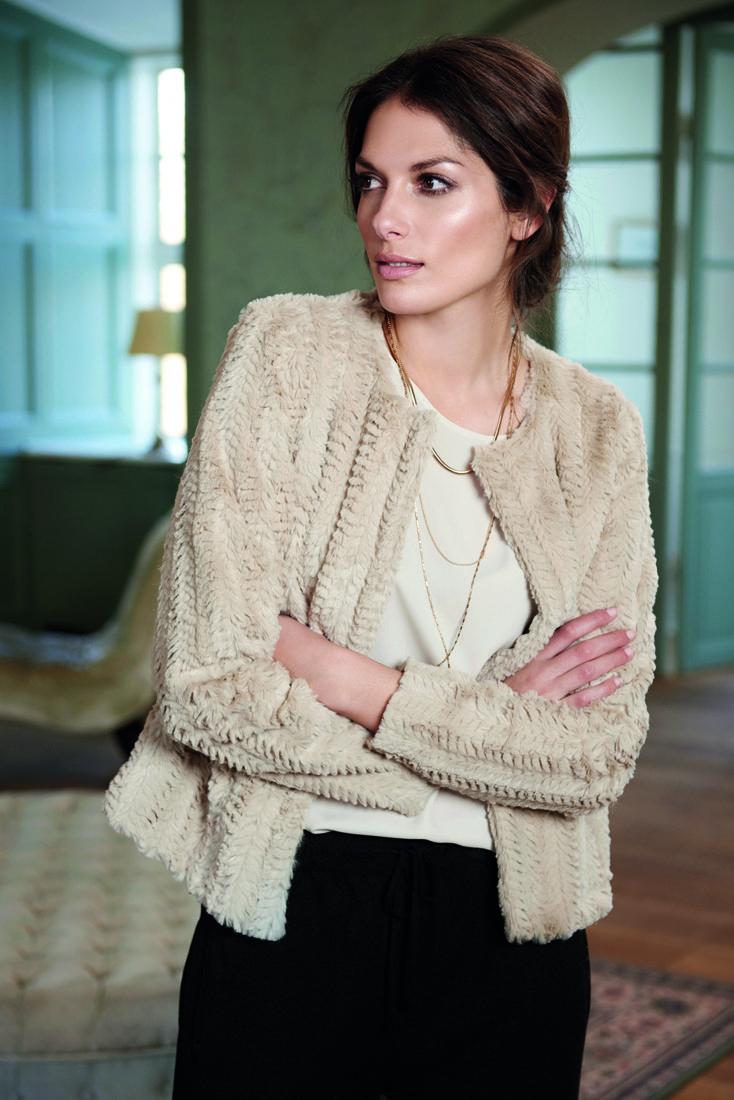 soyaconcept - fur - cardigan - jacket - blouse - shirt - skirt