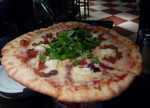 Slice of Vegas at Mandalay Place in the Mandalay Bay Hotel. Affordable pizza, pasta and beer at the Mandalay bay Hotel.