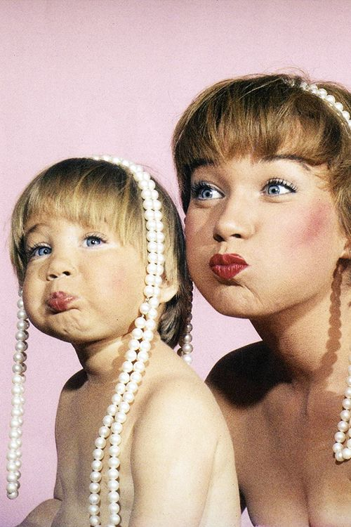 """avagardner: """" Shirley MacLaine and daughter Sachi Parker, photographed by Allan Grant for LIFE Magazine, 1959. """""""