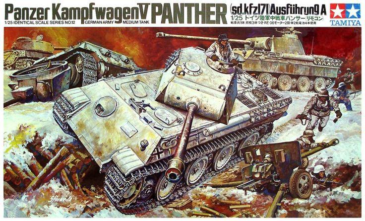"Tamiya German Panther 1/25 Scale ""Motorized"" Classic Model Series."
