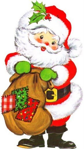 CUTE CHRISTMAS SANTA CLIP ART