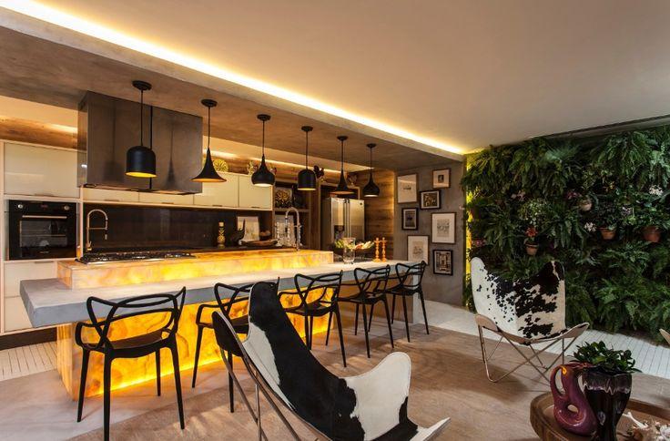 Revestimentos em relevo, estampas, pedra e madeira dão textura à Casa Cor BA - Casa e Decoração - UOL Mulher