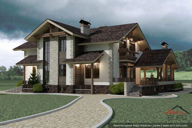 Дом в стиле шале — проект от архитектора Алексея Сухова
