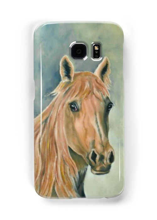 Galaxy Case,  brown,blue,cool,beautiful,fancy,unique,trendy,artistic,awesome,fahionable,unusual,accessories,for sale,design,items,products,gifts,presents,ideas, horse,equine,portrait,animal,wildlife,redbubble