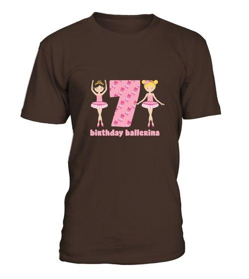 856533dafd4c Kids Ballerina 7th Birthday Tshirt For Seventh Bday Ballet Party ...