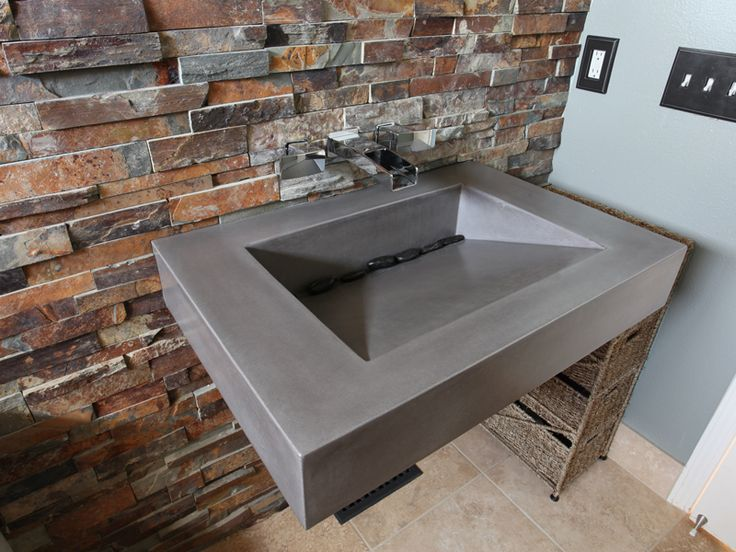 "30"" Floating ADA bathroom sink by Trueform Concrete #TrueformConcrete #OurSinks"