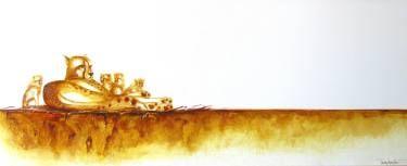 "Saatchi Art Artist Tracey Armstrong; Painting, ""Cheetah Mum & Cubs"" #art"