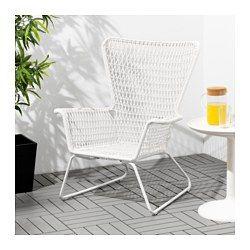 IKEA - HÖGSTEN, Lenestol, utendørs,  , , Håndvevd plastrotting ser ut som naturlig rotting, men tåler utendørs bruk bedre.Materialene i dette møbelet gjør det vedlikeholdsfritt.Enkel å holde ren – tørk av med en fuktig klut.