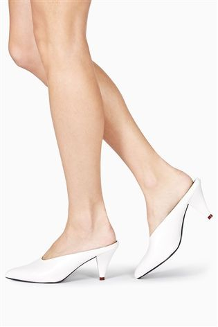 Buy White Cone Mules from the Next UK online shop