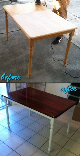 16 best images about redo kitchen table on pinterest - Kitchen table redo ...