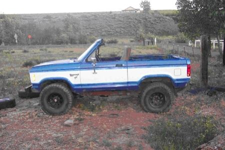 Ford Bronco II Full Chop top & 6 point Roll Cage ...