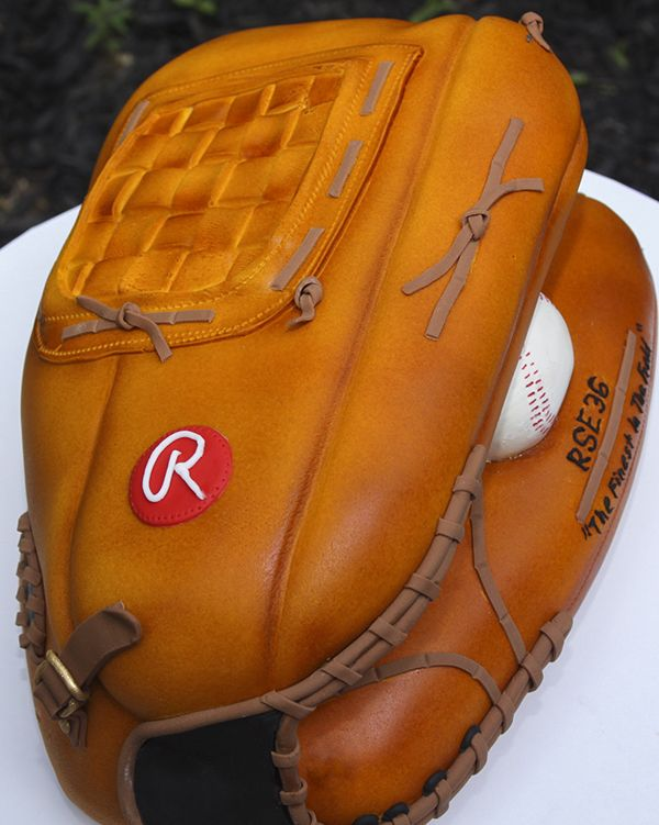 Check out this cute baseball glove cake, from the blog for Sugar Ed Productions!