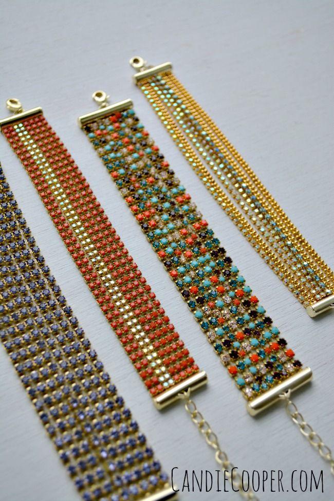 Cup chain slide bracelet