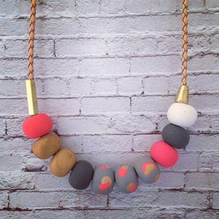 jean necklace. Zebony design