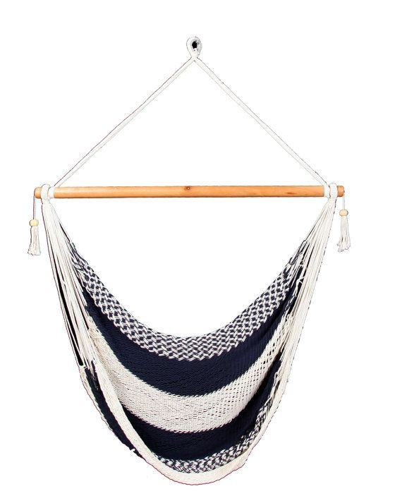 Dark Blue & White Hammock Chair by veronicacolindres on Etsy, $42.00