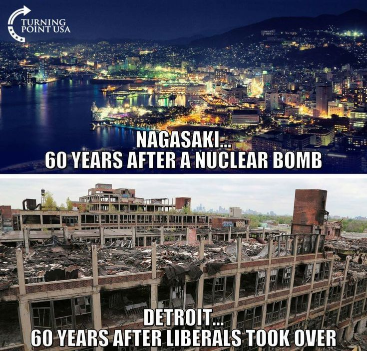 Democrats... worse for cities than an A-bomb.