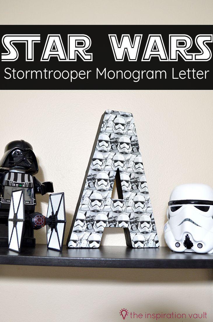 Star Wars Stormtrooper Monogram Letter Decoupage Craft Tutorial