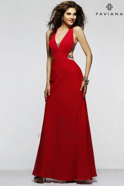 "Faviana 7345 ""Beautiful #faviana #gown perfect for #prom or #nightout. Comes in multiple colors. #dress #cocktail #beautiful #evening #spring #ballgown #2014"""
