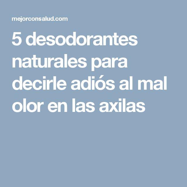 5 desodorantes naturales para decirle adiós al mal olor en las axilas