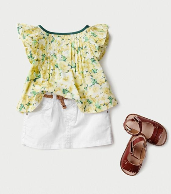 Zara for Girls (Love that top!) I would do a different color neck binding.