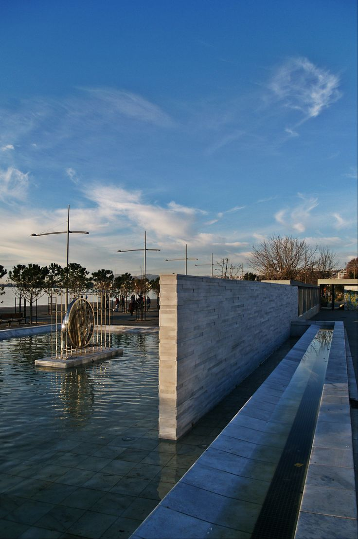 The recently completed Park of the Sculptures. (Walking Thessaloniki - Route 15, Faliro)