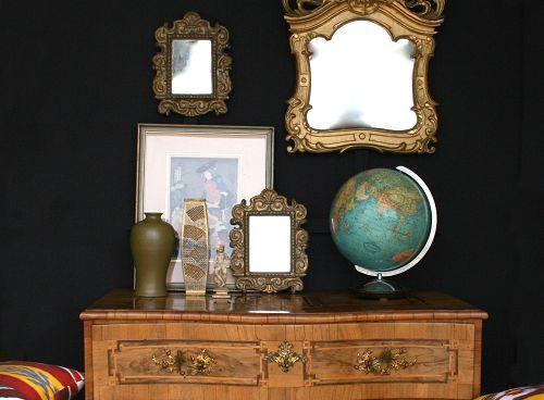 Schulze London Interior Design. #wunderkammer #eclectic #antique #vintage #modern #art #japan #englan #germany #india #asia #glod #mirror #ikat #chic #elegant #london #schulzelondon