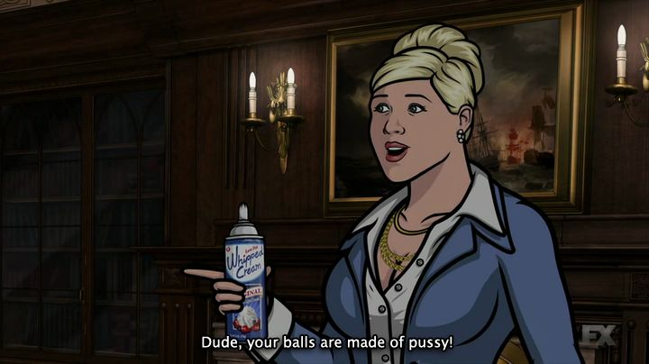 "Pam Poovey (Amber Nash) nell'episodio 5x09 (Archer Vice: On The Carpet) di ""Archer""."