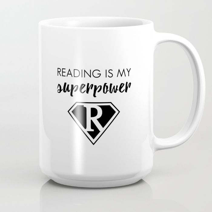 READING IS MY SUPERPOWER mug