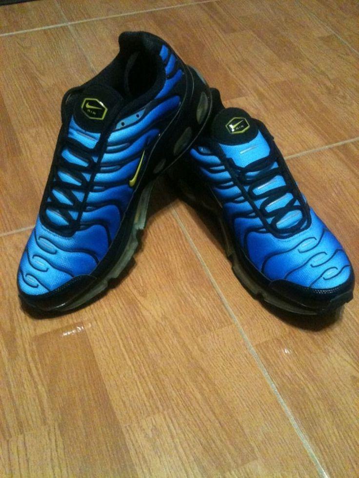 Nike Tn 360 University Blue Black Yellow Style 333609