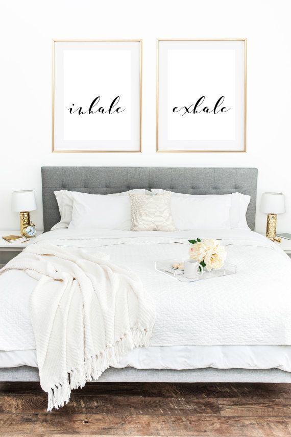 Inhale Exhale Print, Yoga Poster, Yoga Print, Yoga Wall Art, Zen Print, Breathe Sign, Relaxation Gifts, Wall Decor Living Room, Bedroom Art