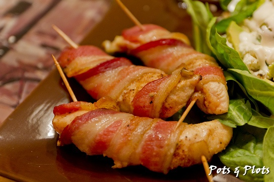 Bacon Wrapped Chicken Tenders by Pots and Plots, via Flickr