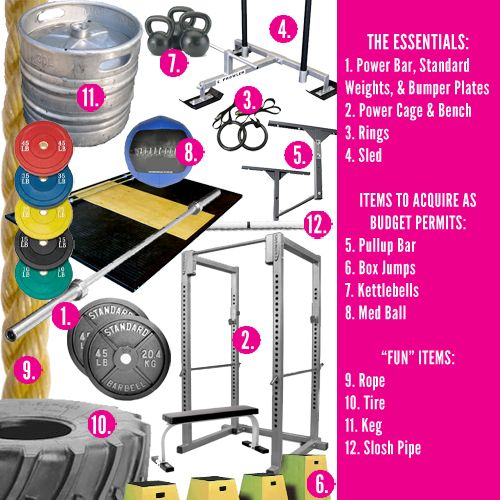 82 best images about diy crossfit on pinterest climbing rope home gyms and upright bike - Best home garages set ...