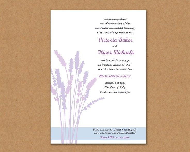 17 Best Images About Lavender Cards For Weddings On Pinterest