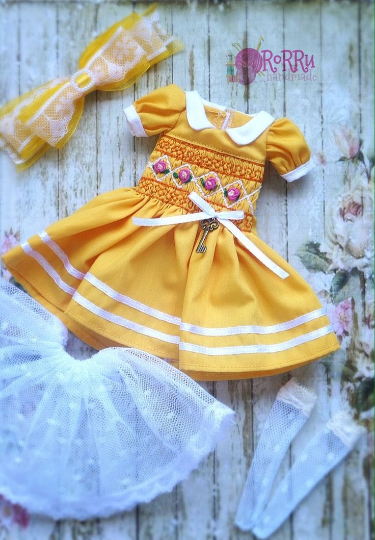 A personal favorite from my Etsy shop https://www.etsy.com/listing/507547547/yellow-smocked-pastel-dress