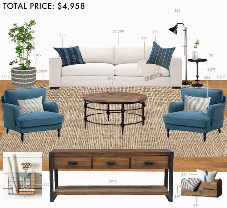 Budget living room modern farmhouse living room paint - Modern living room design on a budget ...