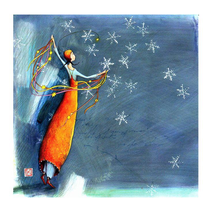 "Gaelle Boissonnard, ""Snowflakes and stars""."