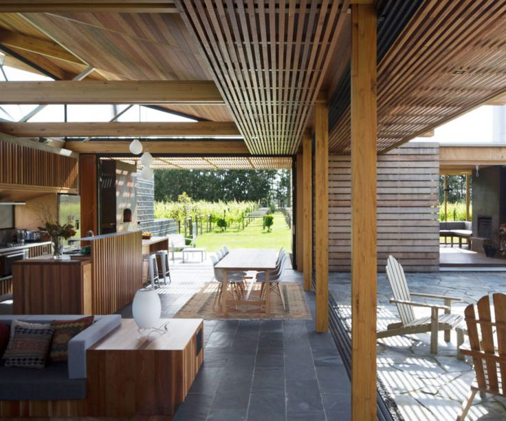 Rather than respond to the site, a new home at Waimauku by Herbst Architects defines the landscape around it with an interplay of solidity and transparency