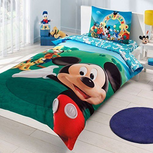 Product review for Mickey Mouse Bedding Duvet Cover Set New Licensed 100% Cotton / Disney Mickey Mouse Twin Size Duvet Cover Set / Mickey Mouse Bedding Set 3 PCS.  - Mickey Mouse Bedding Duvet Cover Set New Licensed 100% Cotton / Disney Mickey Mouse Twin Size Duvet Cover Set / Mickey Mouse Bedding Set 3 PCS / Single Set includes: Duvet cover: 160 x 220cm. (62,99''x86,61'') Fitted sheet: 100 x 200cm. (39,37''x78,40'')....  Continue rea