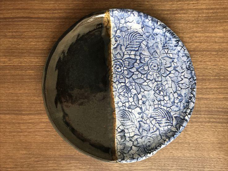#handmade#by#me#blue#pacific#ceramic#plate##antique#oxide#ceramics#ceramicbowl#glaze#clay#ceramiclovers#ceramicplate#brown#natural