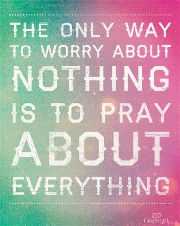 The Only Way to Worry About Nothing - Inspirations