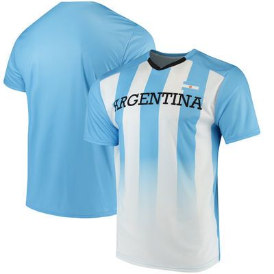 Argentina National Team Federation T-Shirt - White/Light Blue
