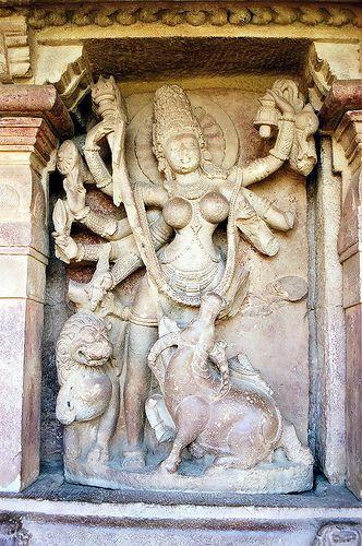 Statue of Durga, Aihole : Karnataka