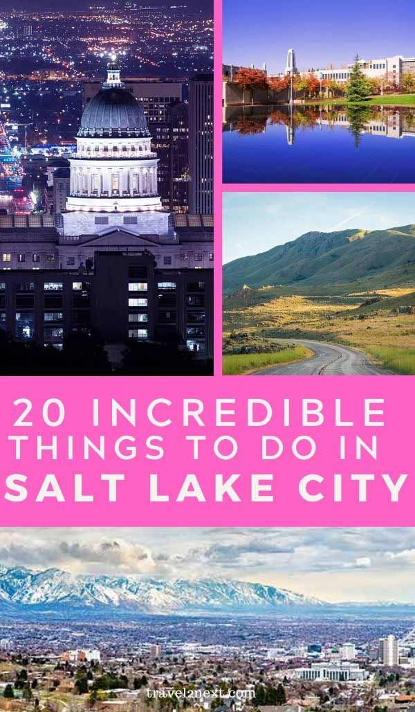 20 Things To Do In Salt Lake City In 2020 Salt Lake City Downtown Lake