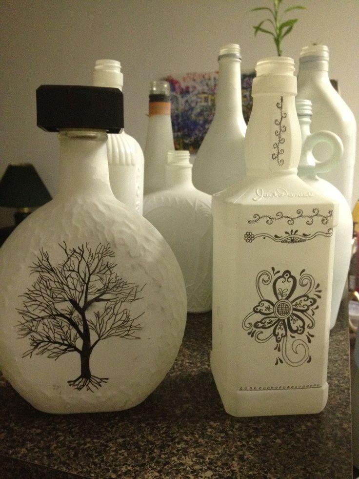 My girlfriend's way of recycling used liquor bottles (via #spinpicks)