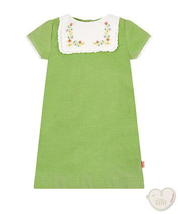 Little Bird by Jools green pinny dress