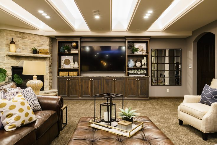 Basement Interior Design And Decorating Ideas Contemporary Modern With A Little Bit Of Rustic