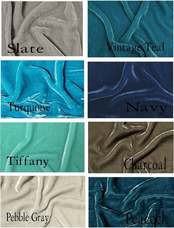 gorgeous silk velvet lined drapes in peacock blue