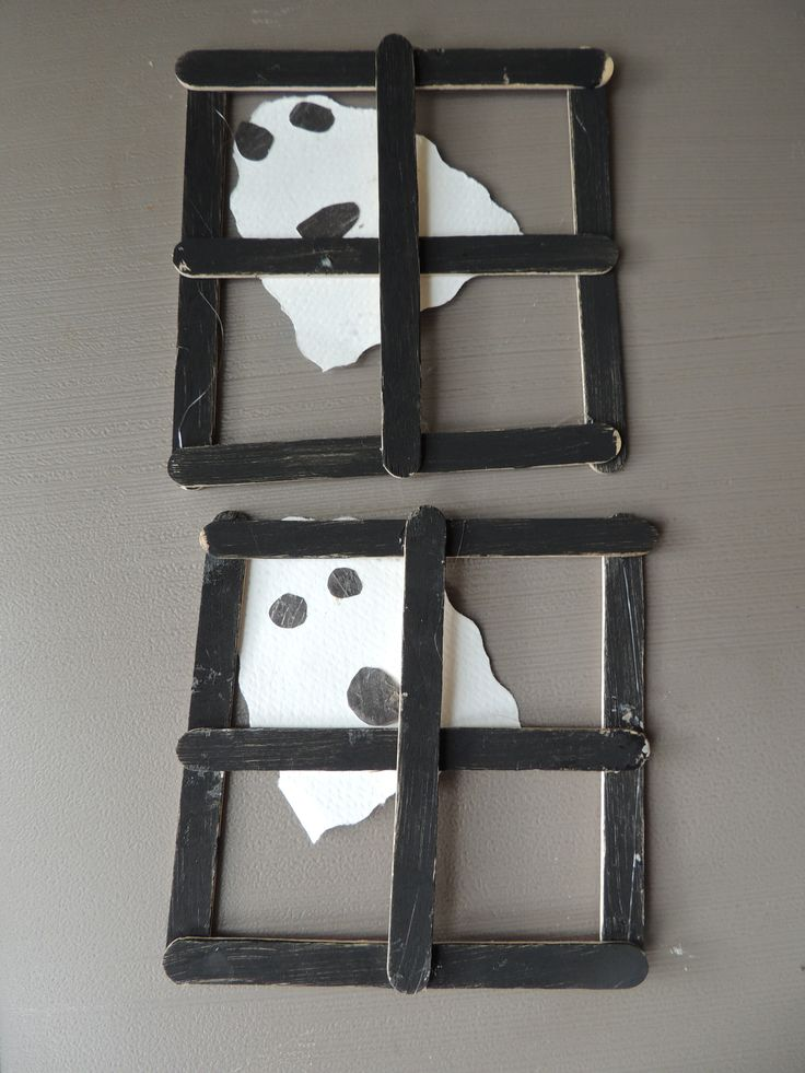 Ghost window preschool halloween craft.                              …