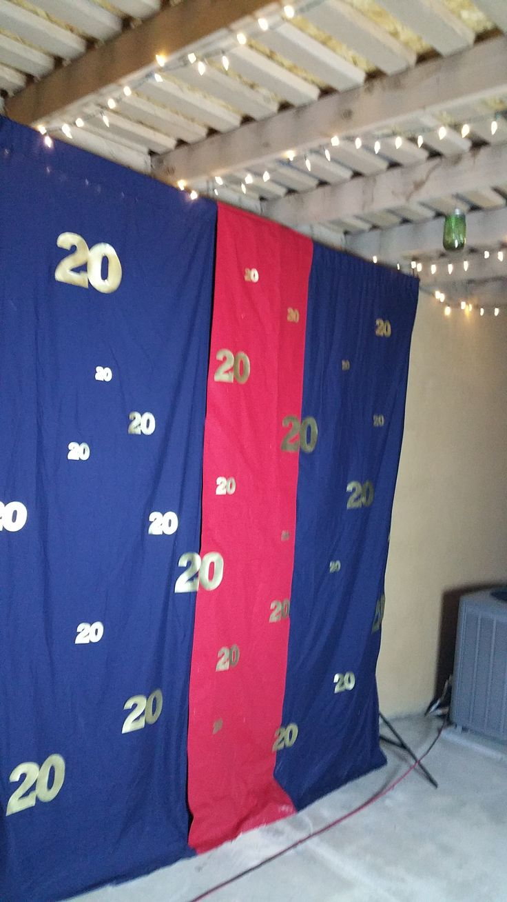 Marine Corps Dress Blue themed open air photo booth backdrop