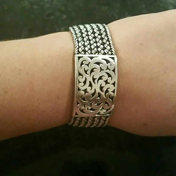 Lois Hill Sterling Silver Bracelets Lois Hill Bracelet, woven Sterling Silver textile weave with cutout station. No damage, never repaired. Please no outside deals, PayPal or trades. Lois Hill Jewelry Bracelets